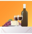 Wine And Cheese Still Life vector image