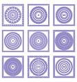 Set of violer greek vintage design elements border vector image