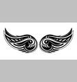 Tribal wings design vector image