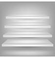 empty white shelves vector image