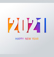 2021 color background happy new year 2021 vector image vector image