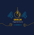 404 error page not found lamp graphic vector image vector image