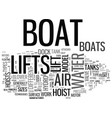 a look at how boat lifts work and the different vector image vector image