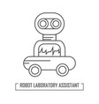 a robot assistant in the vector image vector image