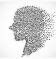 abstract silhouette human head with circles vector image