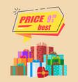 best price advertisement vector image