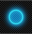 blue illuminated circle vector image vector image