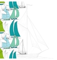 Boats background vector image vector image