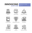 book store - modern color single line icons vector image vector image