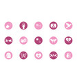 breast cancer awareness block icons set vector image vector image