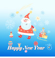 bright festive merry christmas greeting card with vector image vector image
