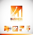 Business investment graph logo icon design vector image vector image