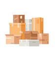 cardboard packaging boxes vector image vector image