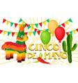cinco de mayo mexican festive banner vector image