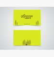 clean business card template mountain forest vector image