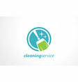 cleaning service logo design idea vector image vector image