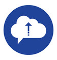 cloud upload icon computing concept vector image
