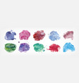 collection of stains hand painted with watercolor vector image vector image