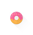 color confection donut icon vector image vector image