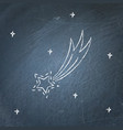 comet icon on chalkboard vector image