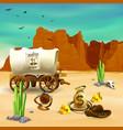 cowboy accessories wild west vector image vector image