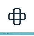cross plus icon logo template design eps 10 vector image vector image