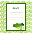 cucumber recipes on a seamless texture vector image vector image