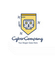 cyber company creative logo with white background vector image