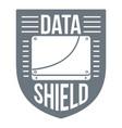 data shield logo simple style vector image