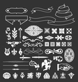 decorative vintage elements and ribbon set vector image vector image