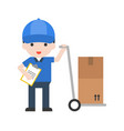 delivery man set profession character of people vector image vector image