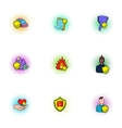 Disaster icons set pop-art style vector image vector image