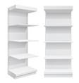 display rack shelves for supermarket vector image vector image