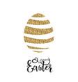 easter gold logo vector image
