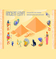 egypt isometric poster vector image vector image