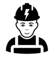 Electrician Flat Icon vector image
