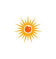 eye sun logo vector image