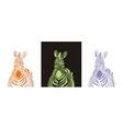 fabulous zebra vector image vector image