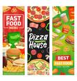 fast food banners burgers fastfood restaurant menu vector image vector image