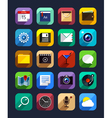Flat App Icons Set 6 vector image
