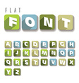 Flat colorful letters vector image