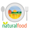 Flat design of vegetarian food healthy eating and vector image vector image