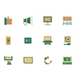 Flat simple icons for video blogging vector image vector image