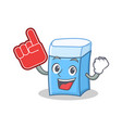 foam finger eraser character mascot style vector image vector image