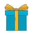 giftbox present cartoon vector image vector image
