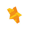 gold star favourite social media isometric icon vector image