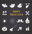 halloween icons set hand drawn design elements vector image vector image