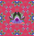 hand drawn seamless floral pattern in folk style vector image