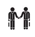 hand shaking businessmen agreement black vector image