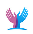 hands reaching out for help charity icon vector image